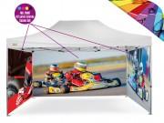Personalizzazione Gazebo FULL PRINT Kit 3 pareti laterali 4x8 mt.
